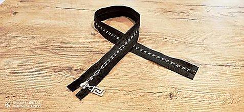 Galantéria - Zips zlato čierny - 75 cm - 13400911_