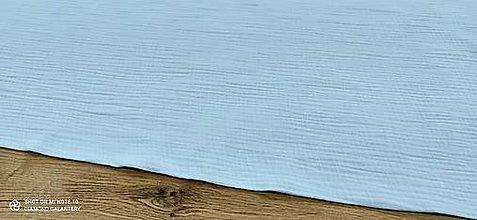Textil - Dvojitá gazovina - Mušelin (Modrá) - 13403568_