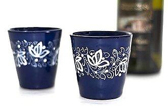 Nádoby - Doobjednávka - Adaminko - 5 ks kobaltový pohár na víno - 13400134_