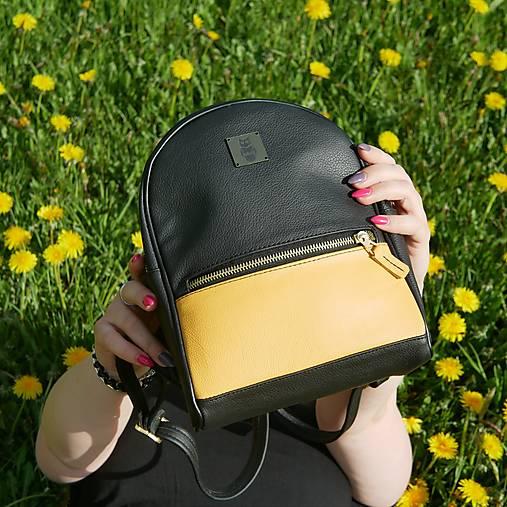 Batohy - Kožený městský batoh - Harry Yellow - 13402336_