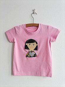 Detské oblečenie - Pískacie a reflexné tričko - Dievčatko - 13403399_