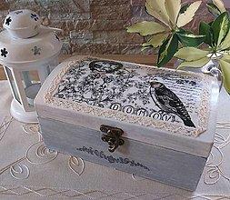 Krabičky - Vintage šperkovnica DOMOV - 13403920_