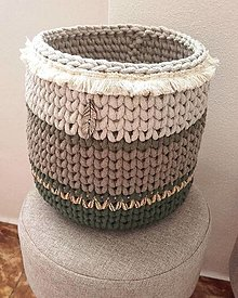 Košíky - Hackovany kôš - obal na kvetinac v štýle BOHO - 13401792_
