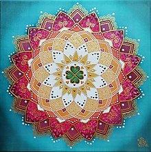 Obrazy - Mandala šťastného a radostného života - 13404392_