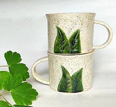 Nádoby - Keramický pohár 250 ml - LISTY - 13401951_