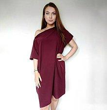Šaty - Oversized teplákové šaty - 13403602_