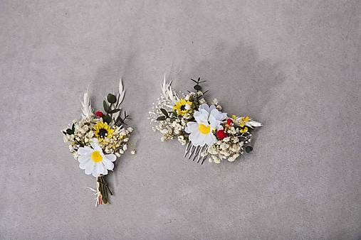 """Kvetinový set """"lúčny bozk"""""""