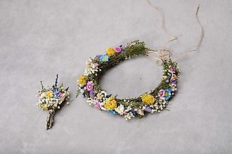 """Ozdoby do vlasov - Kvetinový lúčny setík """"letné lásky"""" - 13401885_"""