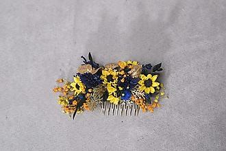 """Ozdoby do vlasov - Kvetinový hrebienok """"pole slnečníc"""" - 13404262_"""