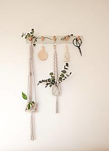 Dekorácie - Makramé držiak na kvetináč - 13404029_