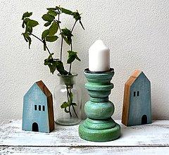 Svietidlá a sviečky - Drevený svietnik - 13403140_