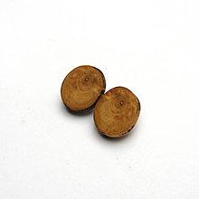 Náušnice - Drevené naušnice klipsňové - čremchové rezy - 13403640_
