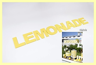 Detské doplnky - Nápis LEMONADE - 13405158_