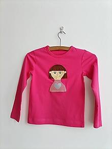 Detské oblečenie - Pískacie a reflexné tričko - Dievčatko - 13408040_