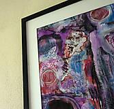 Obrazy - kontrasty . A3 . akryl/akvarel na výkrese . - 13405918_