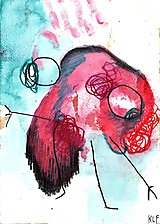 Obrazy - myseľ I . akvarel na výkrese . a4 - 13407580_