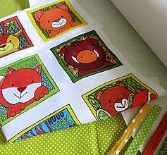 Textil - Kreatívna sada UŠI SI SÁM - Textilná knižočka leporelo (Zvieratká z lesa) - 13407290_