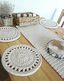 Úžitkový textil - Prestieranie štóla prírodná - 13405181_