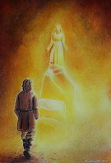 Kresby - Mahuliena, Zlatá Panna alebo Slncová panička - 13405782_