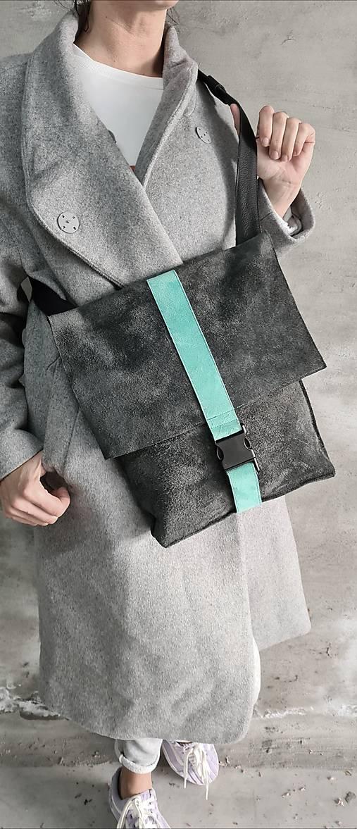 Veľké tašky - BlackBag 2 kožená kabelka/aktovka - 13404830_