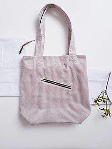 Nákupné tašky - Taška - Cord beige - 13407689_