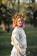 """Ozdoby do vlasov - Halo korunka """"za slnkom"""" - 13405387_"""