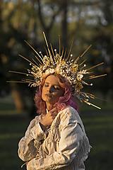 "Ozdoby do vlasov - Halo korunka ""len teba"" - 13405463_"