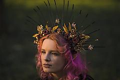 "Ozdoby do vlasov - Halo korunka ""príbehy ukryté v noci"" - 13405509_"