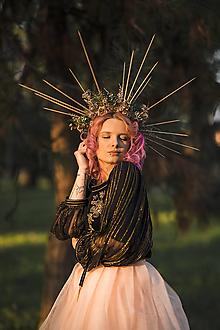 "Ozdoby do vlasov - Halo korunka ""tajomstvá lesných zákutí"" - 13405244_"