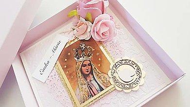 """Papiernictvo - Na birmovku """"Panna Mária, oroduj za nás"""" - 13407246_"""