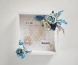 Dekorácie - 3D Foto vitrínka na stenu - Spomienka na prvé sväte prijímanie II. - 13407413_