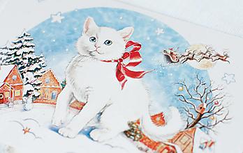 "Papier - Pohľadnica ""Kitten in the snowy town"" - 13407800_"