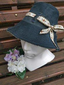Detské čiapky - Štýlový klobúk Denim - 13405947_