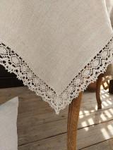 Úžitkový textil - Ľanový obrus Traditions - 13406985_