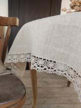 Úžitkový textil - Ľanový obrus Traditions - 13406987_