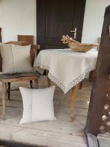 Úžitkový textil - Ľanový obrus Traditions - 13406988_