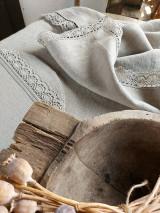 Úžitkový textil - Ľanový obrus Traditions - 13406989_