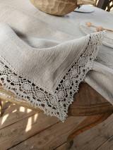 Úžitkový textil - Ľanový obrus Traditions - 13406993_