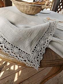 Úžitkový textil - Ľanový obrus Traditions - 13406996_