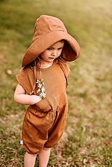 Detské oblečenie - Ľanový krátky overal - 13410579_