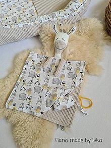 Hračky - Mojkáčik  žirafa  s dečkou  +  vrecko na zips   / možnosť súpravy/ - 13409072_