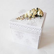 Krabičky - Exploding box - darčeková krabička svadobná - 13408716_