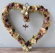 """Dekorácie - Srdce zo sušených kvetov """"Henrieta"""" - 13410779_"""