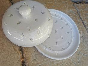 Nádoby - Kvietkovaná maselnička na veľké maslo - 13408996_