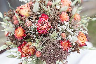 Dekorácie - Kytica zo sušených kvetov - 13410991_