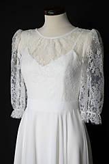 Šaty - Svadobné šaty s tielkovým podšitím a šifónovou sukňou vo vintage štýle - 13409821_