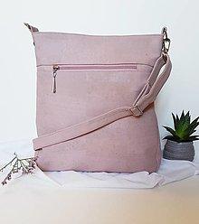 Kabelky - Midi cork pink - 13410742_