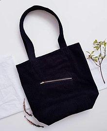 Nákupné tašky - Taška - Cord black - 13410755_