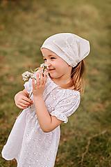 Detské čiapky - Šatka z mušelínu do horúčav - 13408524_