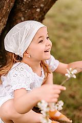 Detské čiapky - Šatka z mušelínu do horúčav - 13408525_